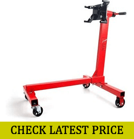 JEGS 80040 Red Engine Stand (1000 lbs Capacity)