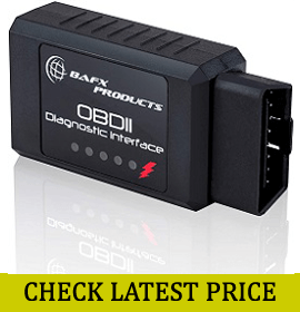 Bafx Products - Wireless Bluetooth OBD2 Car Scanner & Reader Tool
