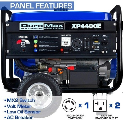 How is the Duromax xp4400e Generator Powered?