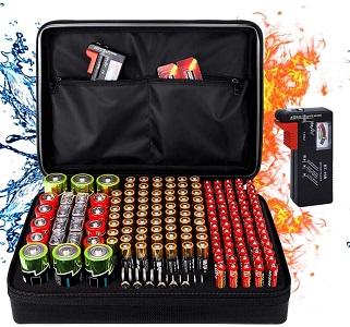 DocSafe Fireproof Battery Organizer Storage Box